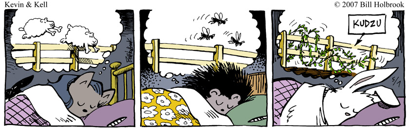 Comic strip on dreaming